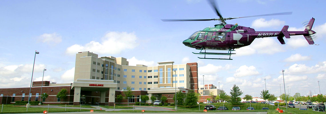 Eagle 2 landing at Centerpoint Medical Center